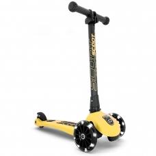 Трехколесный самокат Highwaykick3 лимон с LED колесами